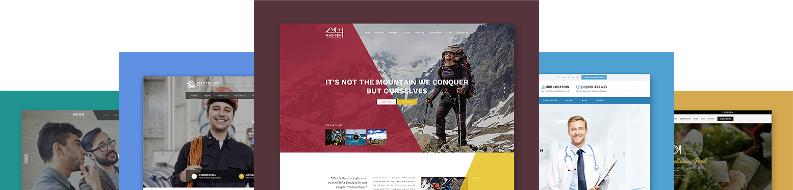 Create modern, beautiful & functional websites with our Premium WordPress Themes